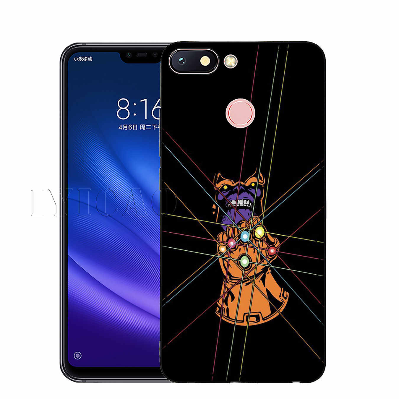 IYICAO Os Vingadores Thanos Maravilha Suave Silicone Caso Telefone para Xiao mi mi 9 SE 9T CC9 CC9E 8 a3 Pro A1 A2 Lite f1 MAX 3
