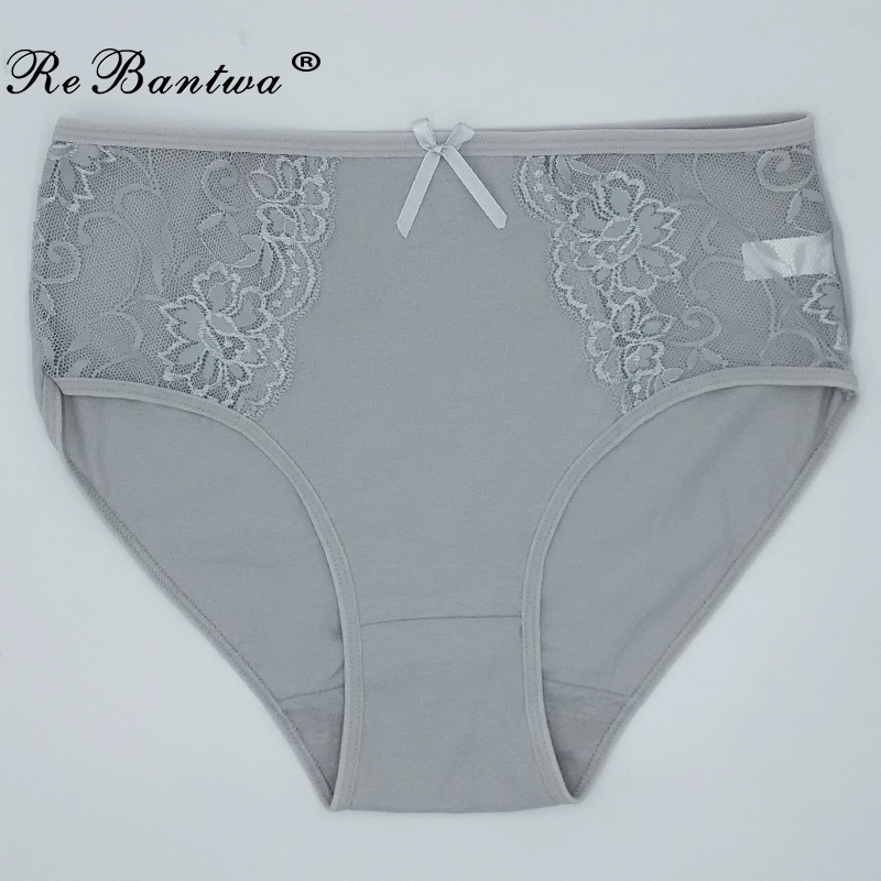 1 Piece Plus Size XXL 3XL 4XL 5XL Briefs Women Cotton Underwear Big Size Lace Breathable Briefs Ladies' Panties Woman Lingeries