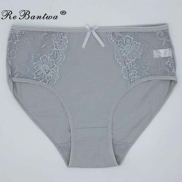 4b1919a29f7 1 Piece Plus Size XXL 3XL 4XL 5XL Briefs Women Cotton Underwear Big Size  Lace Breathable Briefs Ladies  Panties Woman Lingeries