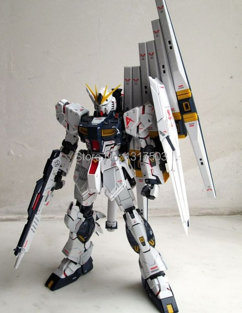 Built MG RX 93 nu ver ka 6 funnels Red psycho frame with decal and ...