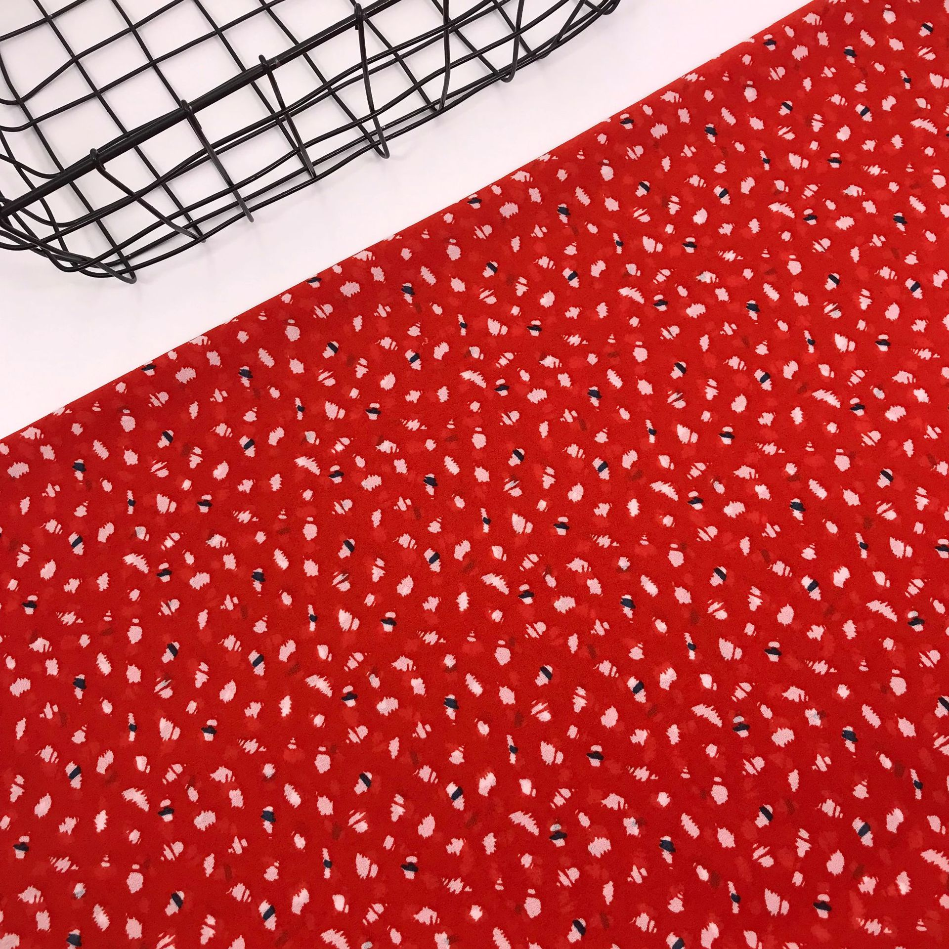 100 Polyester Random Dot Printed Pearl Chiffon Fabric Patchwork Textile Polyester Fabric DIY Sewing Dress Shirt Shawl Fabric in Fabric from Home Garden