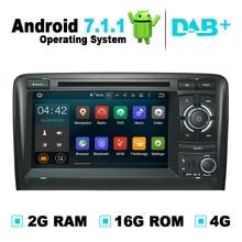 2G Ram Android 7.1 reproductor de DVD del coche sistema de navegación GPS auto Radios medios estéreo para Audi A3 soporte digital TV dvb-t isdb-t dvr