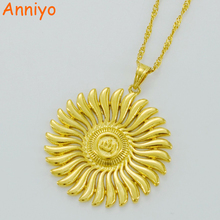 Small Allah Pendant Necklaces Women,Arabic Jewelry Islam Mohammed Necklace Gold Color Muslim Middle Eastern #035706