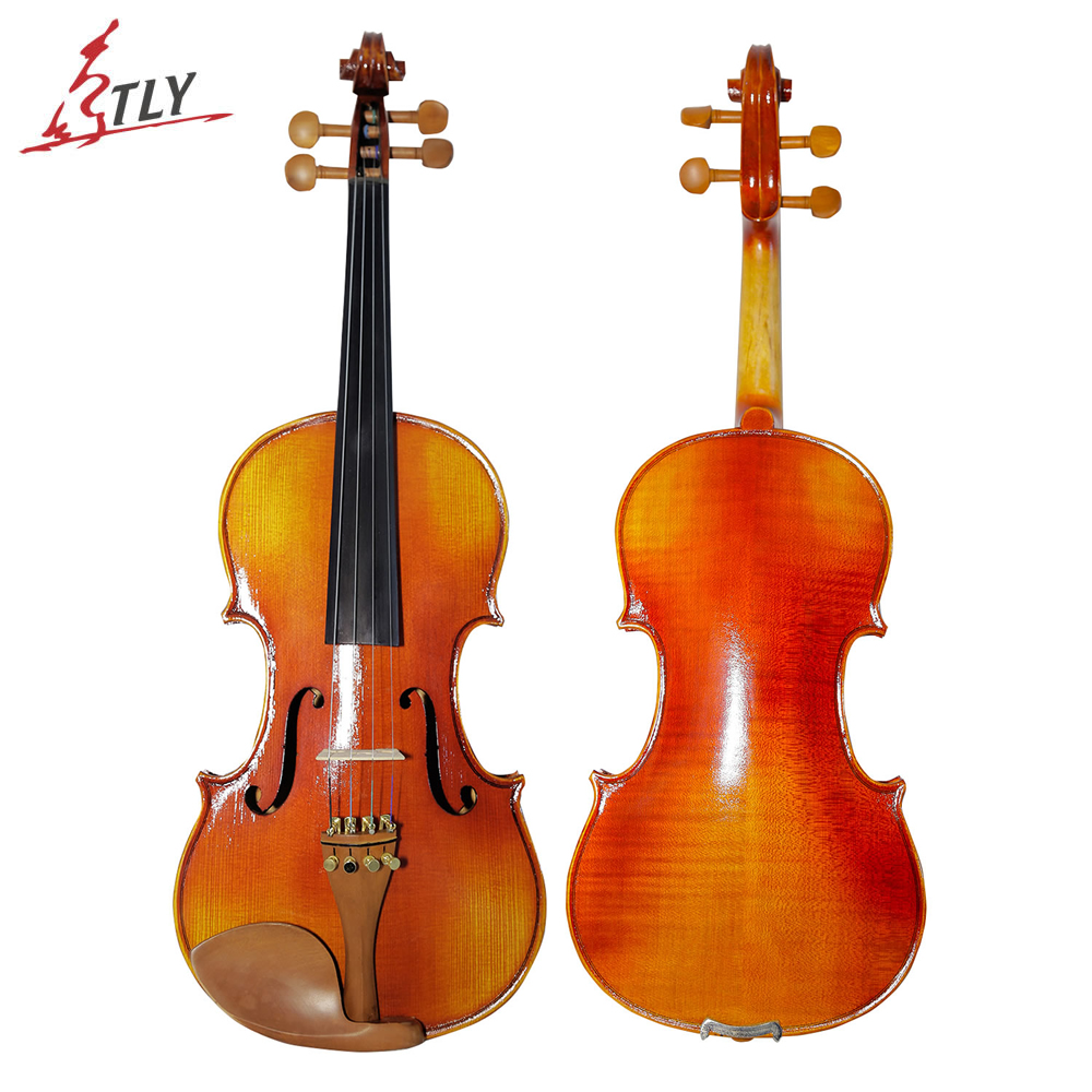 TONGLING Brand Natural Stripes Maple Violin Hand-craft Oil Varnish Violin 4/4 3/4 Full Size Musical Instrument with Accessories hand craft violin natural stripes maple 4 4 violino stringed musical instrument with violin bow case international certification