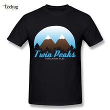 Cool Men Twin Peaks T-Shirt Male Great Design Tees Novelty Picture PLus Size T Shirt plus size pockets design leopard t shirt