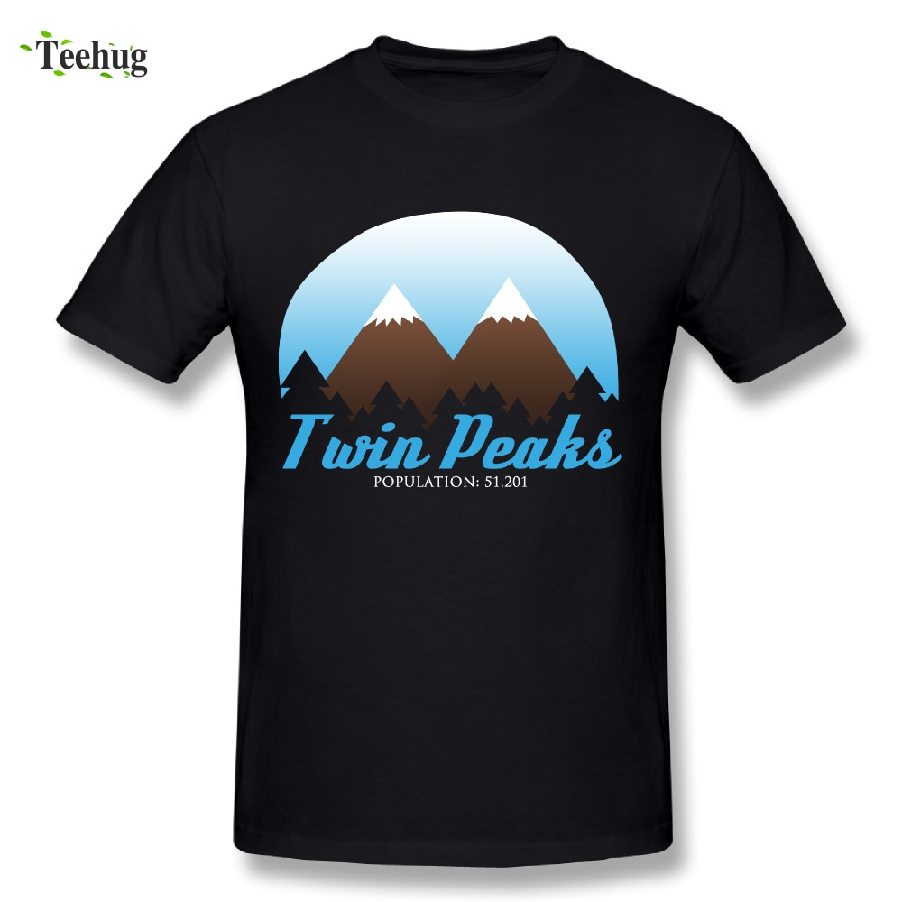 Cool Men Twin Peaks T-Shirt Male Great Design Tees Novelty Picture PLus Size T Shirt