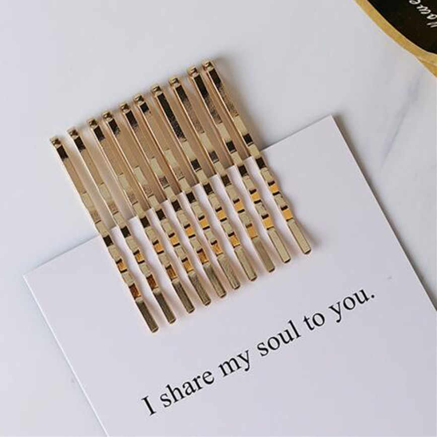 10 Pcs/set Women Hair Clips Hairpins Gold Metal Waved Curly Barrettes Bobby Pins Hairgrip Headdress Hairclip Hair Styling Tool