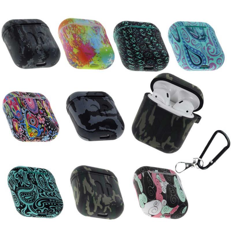 Nowo Vintage Ink kolorowe graffiti pudełko na słuchawki miękkie słuchawki silikonowe zabezpieczenie przed wstrząsami pokrywa słuchawki do etui airpods