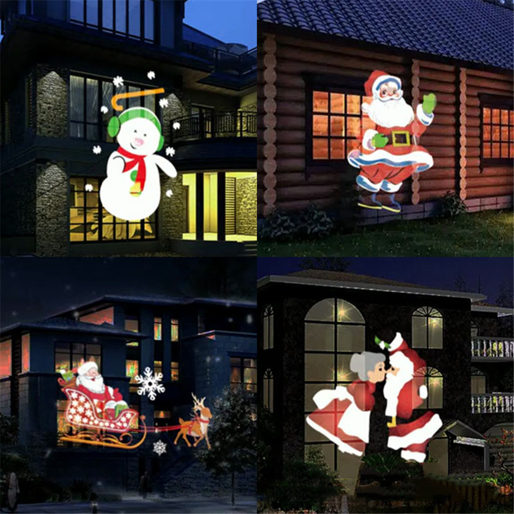 Animated LED Projector Lights Indoor Outdoor Landscape Garden lamp Waterproof IP65 for Christmas Holloween Wedding Party informotion animated infographics