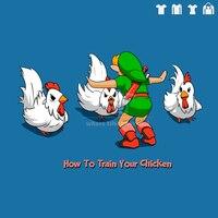 Monde jurassique dinosaure Zelda comment dresser votre poulet de bande dessinée hommes femmes Gildan t-shirt 100% coton à manches courtes 180gsm