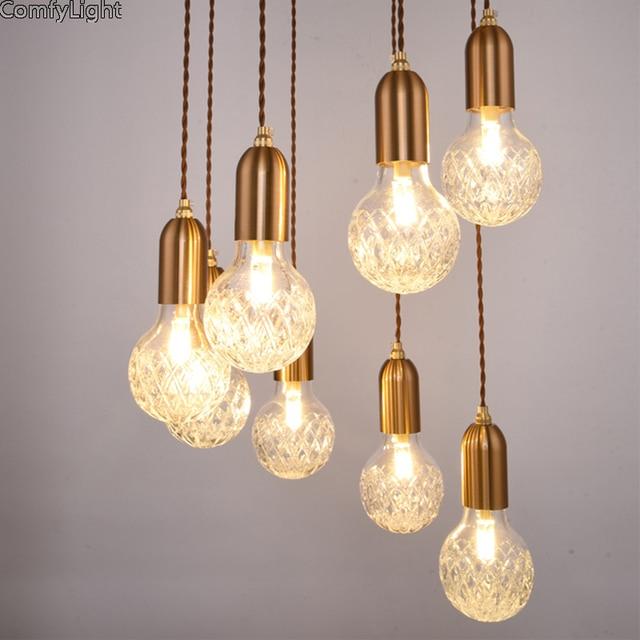 Minimalismus Glas Anhänger Licht Lampe Halter wohnkultur Anhänger ...