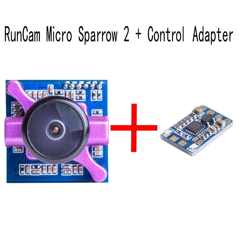 все цены на RunCam Micro Sparrow 2 FPV Camera 700TVL Super WDR COMS Sensor OSD 4:3 NTSC/PAL 2.1mm Lens FOV 150 for For Drone Quad