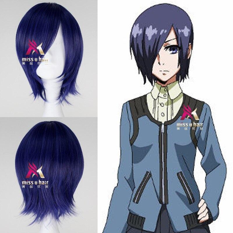 new Tokyo Ghoul Touka Kirishima Wig Cosplay Costume Kirishima Toka Women Short Synthetic Hair Halloween + Wig Cap