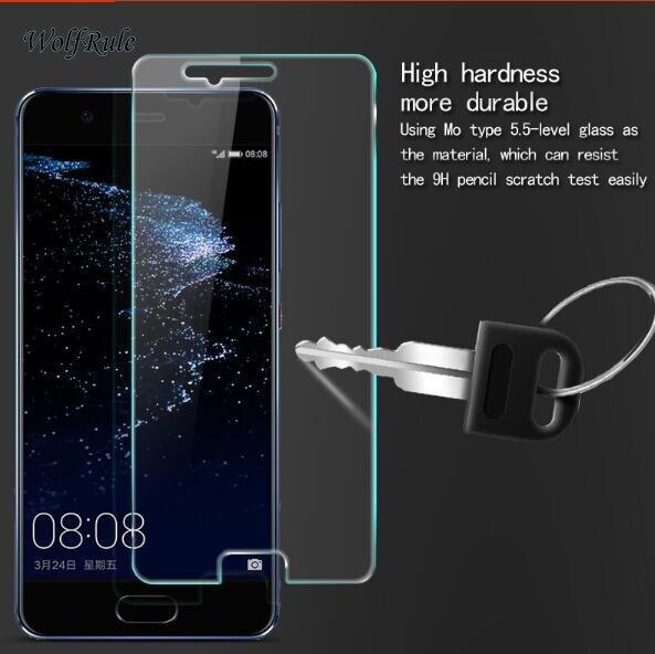 2PCS מסך מגן זכוכית עבור Huawei P10 מזג זכוכית עבור Huawei P10 זכוכית טלפון סרט עבור Huawei P 10 אנטי שריטה WolfRule