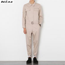 Mens Jumpsuit 2016 New Fashion Overalls Men Full Sleeve Slim Fit Jumpsuits Working Clothes Cool Male
