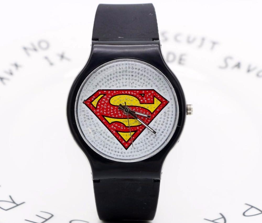 Superman Wrist Watch PU Strap Cartoon Children Boys Girls Sports Cool Digiltal Led Casual Watch Relogio Feminino Kids Hot Clock