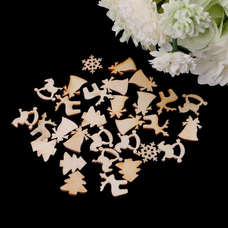 x de madera adornos de navidad formas de copo de nieve de los ciervos de rboles