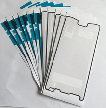 Wholesale 50sets/lot(100pcs)New For Sony Xperia Z4 LCD frame +Battery Cover waterproof Adhesive Tape Sticker free shipping