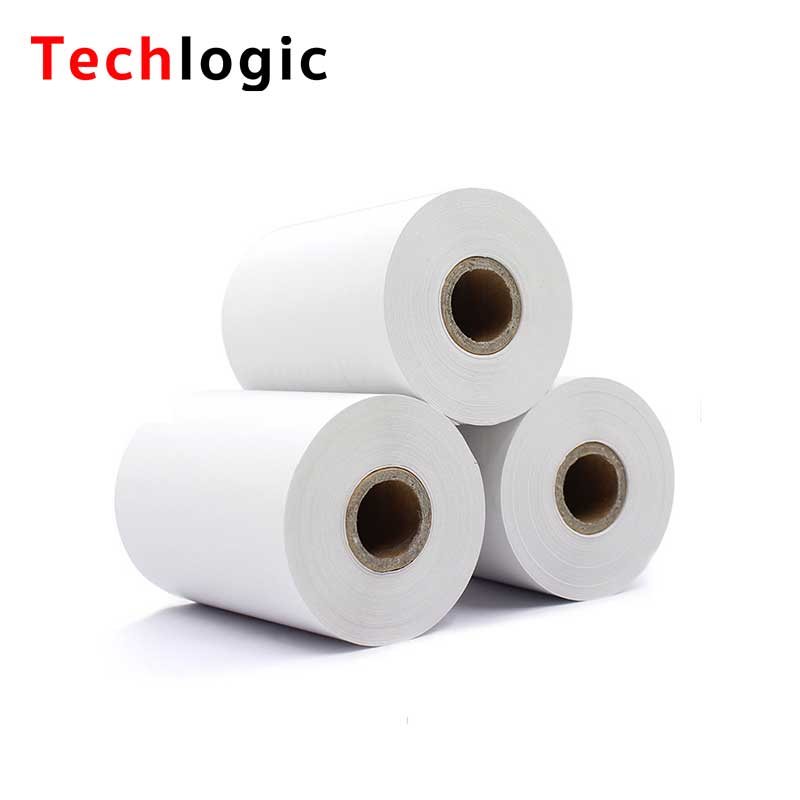 Techlogic 57X40 Thermal Paper Supermarket POS Machine Paper 57*40 Cashier Register Paper 5740 Restaurant Small Ticket Paper thermal cash register paper printing paper white 80mm