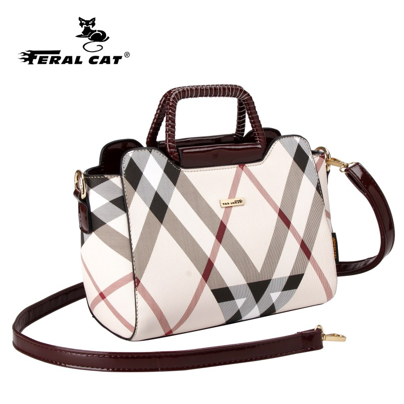 FERAL CAT Luxury Brand 2017 New Women Handbags High Quality Brand Casual Messenger Bags European And American Style Shoulder Bag hot european and american style fashion women bags high quality luxury leather handbags women messenger shoulder bag sac a main
