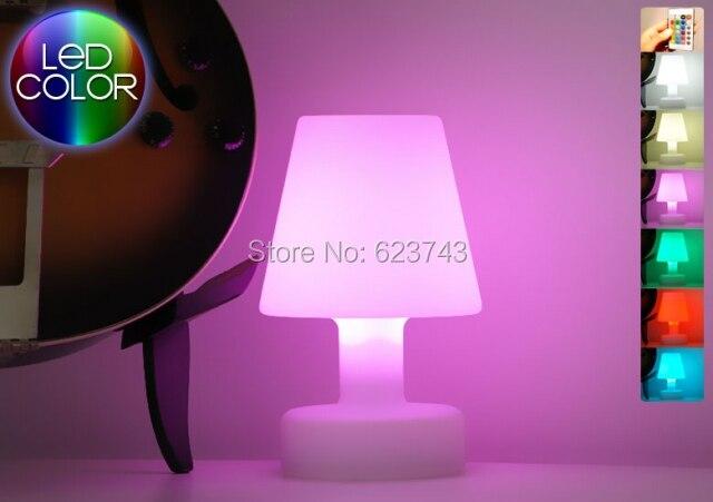 SLONGLIGHT LED lampe de table Rechargeable, télécommande sans fil led lampe de bureau Étanche, résistant à la Rupture Table lumineuse