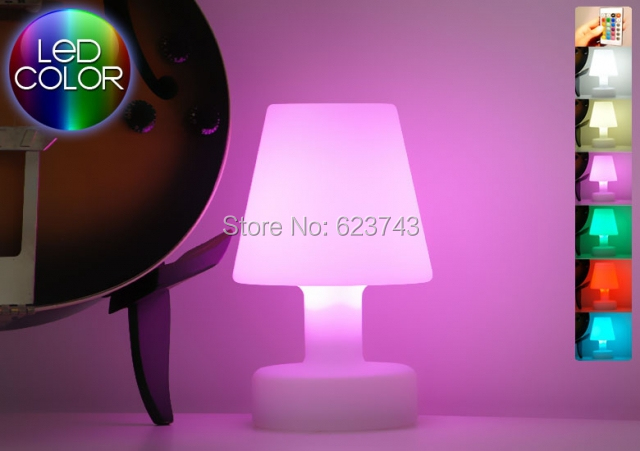 SLONGLIGHT LED table lamp Rechargeable,remote control cordless led ...