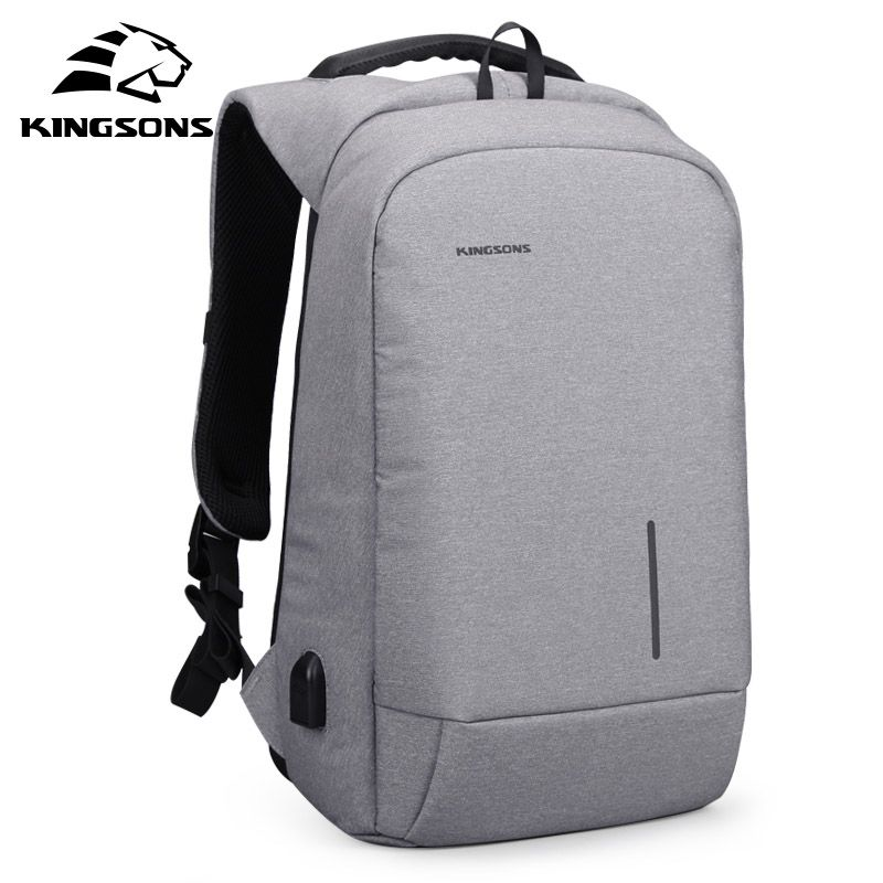 Kingsons Anti-Theft 15.6 inch USB Charging Backapcks School Backpack Bag Laptop Computer Bags Mens Womens Travel BagsKingsons Anti-Theft 15.6 inch USB Charging Backapcks School Backpack Bag Laptop Computer Bags Mens Womens Travel Bags