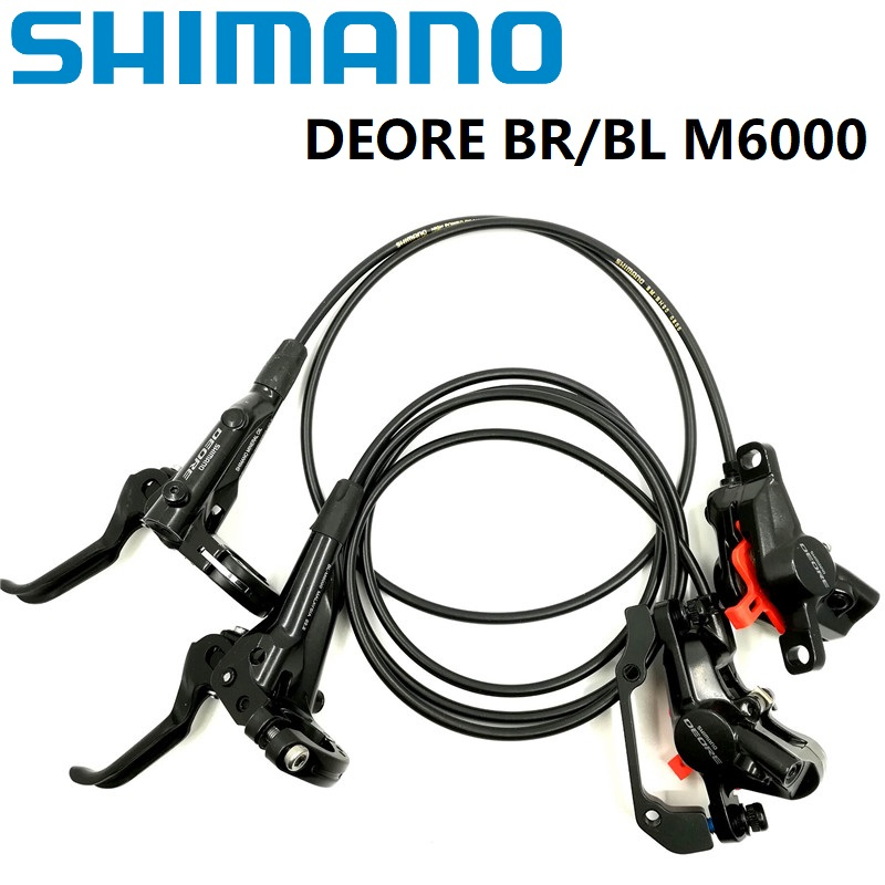 Shimano DEORE M6000 Hydraulic Disc Brake Caliper Lever With Resin Pads FRONT REAR BRAKE SET MTB