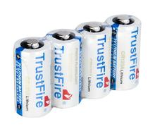 10pcs/lot TrustFire 1400mAh CR123A 3V Lithium CR 123A Disposable Battery Fit for Flashlight Baby Toy Camera Batteries soshine cr123a 3v disposable lithium batteries 2 pcs