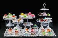 الأبيض الزفاف حلويات صينية عرض حامل الطبق عموم كعكة كعكة الوقوف كب حزب التموين 12 قطعة/المجموعة