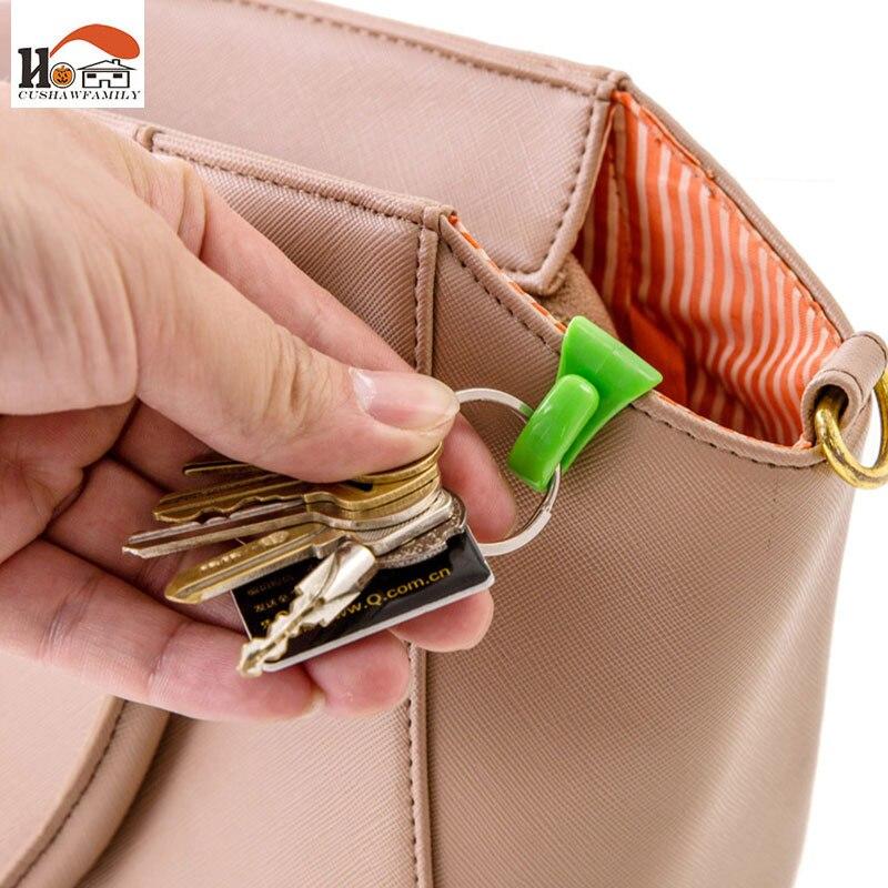 CUSHAWFAMIY 2 шт. красочные мини Встроенный зажим для сумки Предотвращение потери ключа крюк Держатель клипсы для хранения для нескольких типов сумка внутри