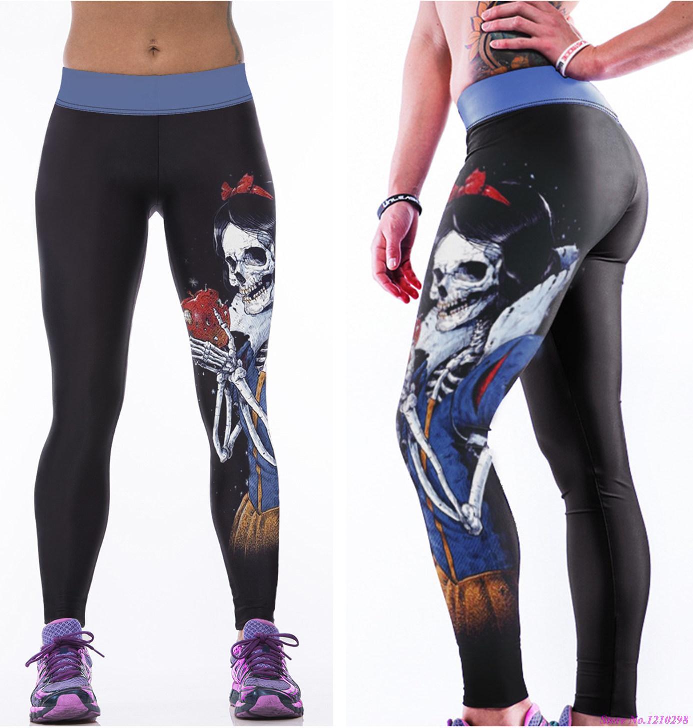 Aliexpress.com : Buy Skull Wicked Queen Sports Yoga Pants ...