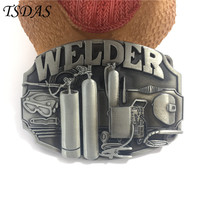 Fashion Clothes Accessory Smooth Silver Belt Buckle WELDER Pattern 8 3 6 2cm Metal Belt Buckle