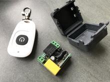Uniwersalny AC 220 V 1 kanał RF mini bezprzewodowy odbiornik zdalnego sterowania i nadajnik 315 mhz lub 433 mhz włączanie/wyłączanie zasilania