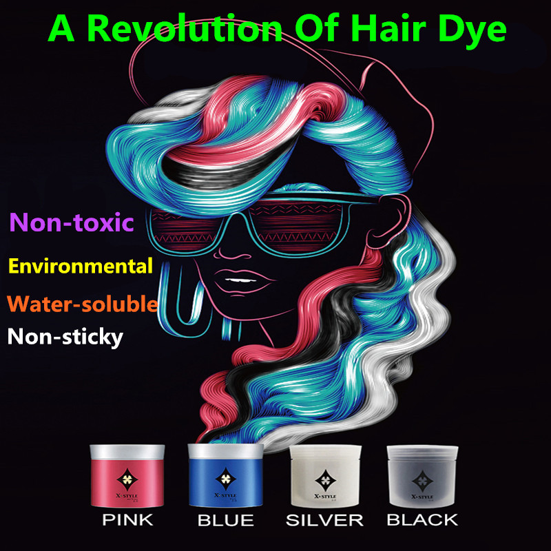 One Time Hair Color Mud Environmental Wax Powder Dyeing Stereotypes