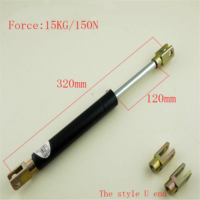Free shipping  320mm central distance, 120 mm stroke, pneumatic Auto Gas Spring, Lift Prop Gas Spring Damper kitchen cabinet door lift pneumatic support hydraulic 750mm central distance 320mm strok gas spring stay for wood box