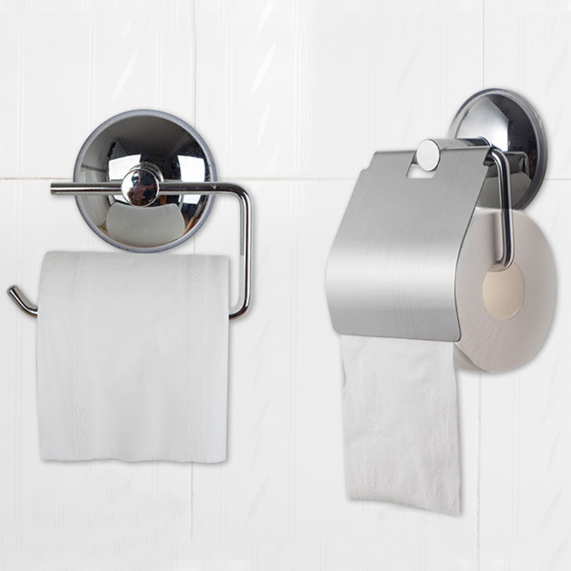 Sucker Wall Mounted Toilet Roll Paper Holder Practical Tissue Paper Box Bathroom Lavatory Cover Tissue Boxes Storage AccessoriesSucker Wall Mounted Toilet Roll Paper Holder Practical Tissue Paper Box Bathroom Lavatory Cover Tissue Boxes Storage Accessories