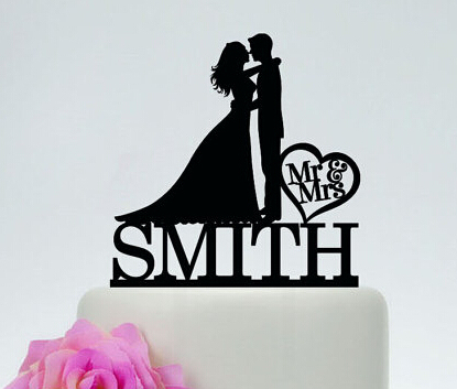 acrylic wedding cake toppers kissing couples mr mrs custom bride groom name music bridal shower party