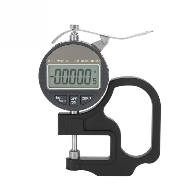 0-12.7mm Measuring Instrument Thickness Gauge Digital LCD Display Paper Leather Cloth Thickness Gauge Measuring Tool Range