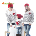 2015 Family Matching Clothing Soft Cotton Shirt Matching Mother Daughter Clothes Family Look Style Father Mother Son KU849