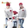2015 familia coincidencia ropa camisa de algodón suave juego de madre e hija ropa familiares estilo mirada padre madre hijo KU849