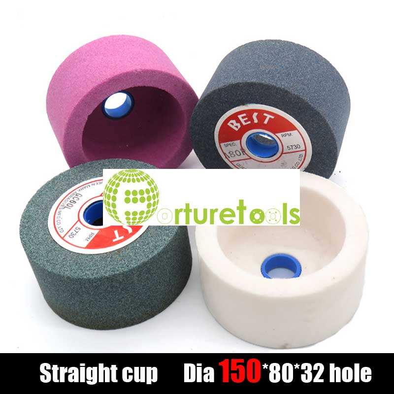6 Inch Straight Cup Ceramic Corundum Grinding Wheel Of Brown, White And Pink Aluminum Oxide Green Silicon Carbide MT054 PS017