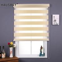 Modern Half Blackout Zebra Blinds Double Layer light shading Window Roller Blinds for Living Room Bedroom Study Office JR1004