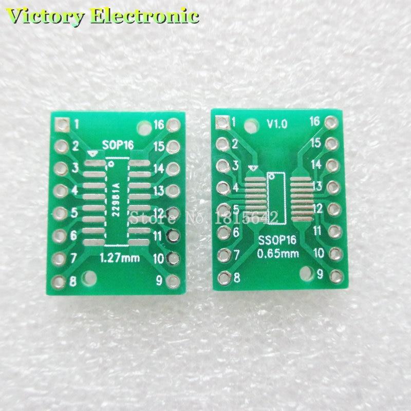 20PCS/lot TSSOP16 SSOP16 MSOP16 SO16 SOP16 SOIC16 Turn DIP16 1.27MM / 0.65MM IC Adapter Socket / Adapter Plate / PCB Wholesale