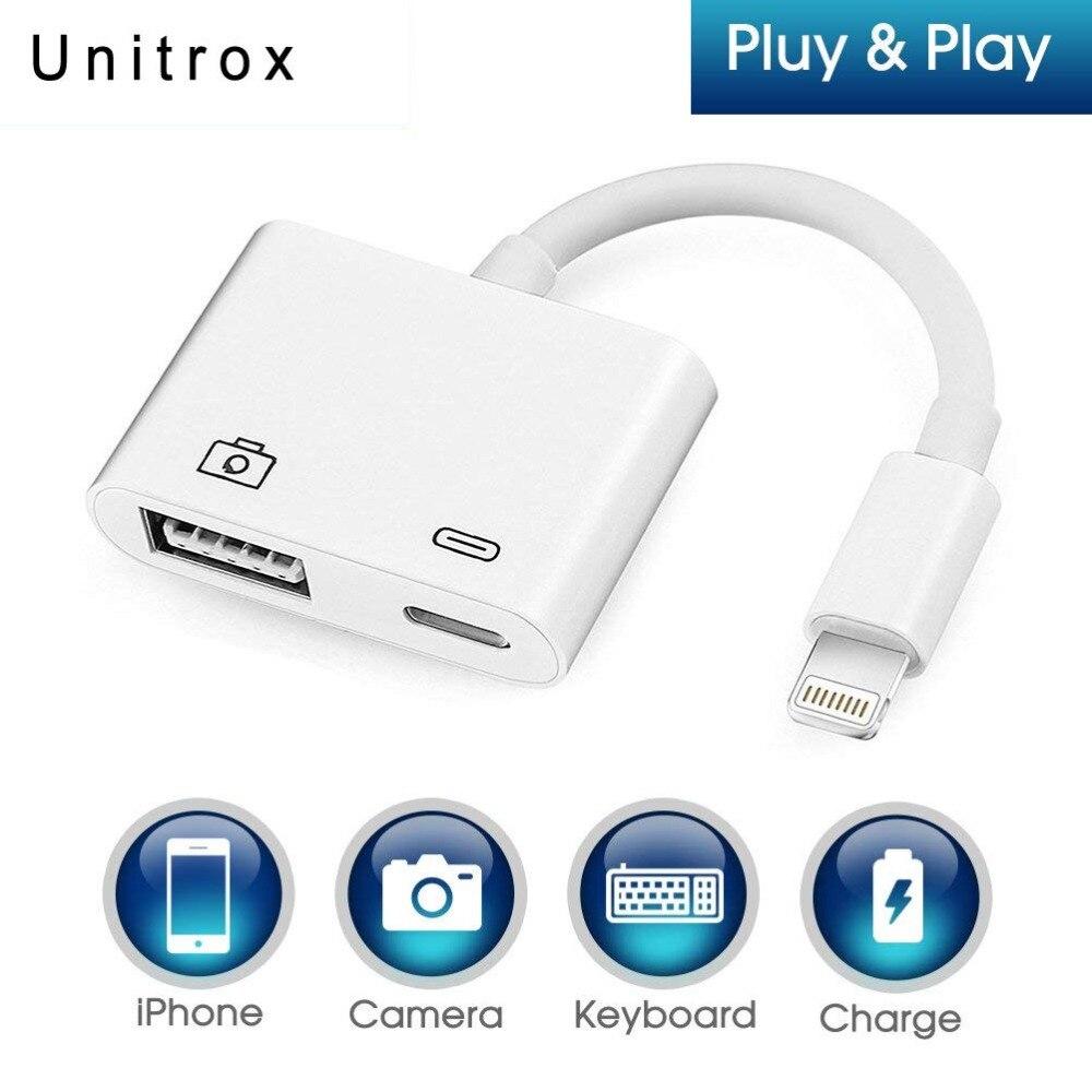 2018 Nouveau Pour La Foudre pour USB 3 Caméra Lecteur Adaptateur Connexion Kits Data Sync Câble Pour IPhone X 8 7 7 Plus 6 6 s 5 5S Pour IPad