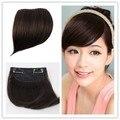 100% бразильский виргинский реми человеческого волоса клипы в / на косой челкой стелс тупые удары волосы 4 цветов