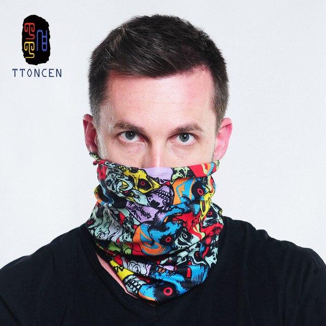 Unisex Men Skull Head Face Mask Wear Tube Bandana Durag Biker