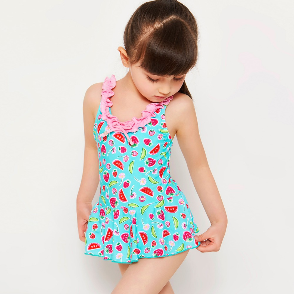 Baby Toddler Girl Summer Swimming Suit Clothes for 3-8 Years Old Children One Piece Sleeveless Bowknot Swimwear