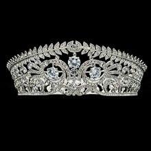 Hoja de la manera de la alta calidad flor tiaras corona para Accesorios DE  BODA CZ cristales ZIRCON joyería prom sha8696 73a987c40960