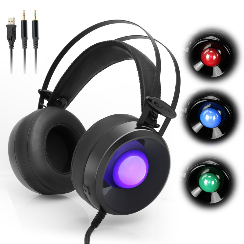 New Fashion M170 With RGB Light Changing Gaming Wired Headset Headphone with Microphone Volume Control For PC Laptop
